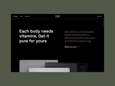 Pure Website motion animation uxui healthcare health chatbot chat app design web ui ux minimal clean