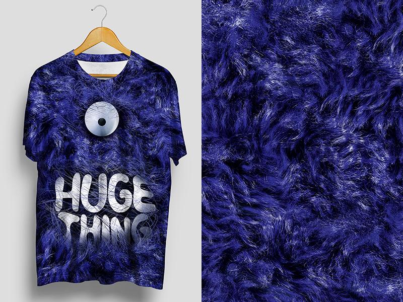 HugeThing T-Shirt material fur 3d texture huge thing t-shirt