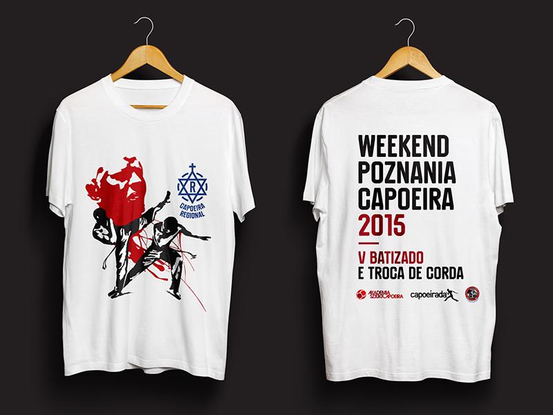 ACMB Polonia Batizado T-shirt polonia acmb batizado capoeira event t-shirt