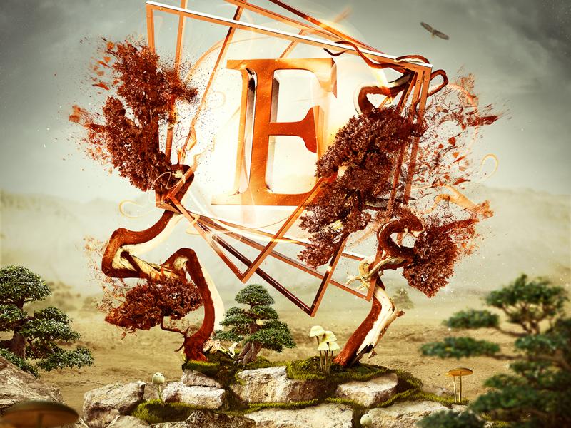 Eliksir key visual illustration cinema4d 3d key visual eliksir