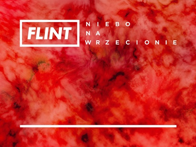 Flint – Niebo na wrzecionie abstract concept typography cover