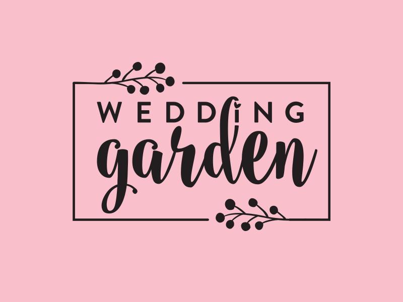 Wedding Garden web app frame floral wedding logo