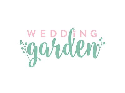 Wedding Garden 2 web app frame floral wedding logo