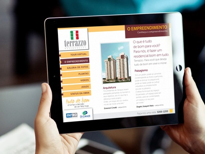 Interface iPad -  construction company