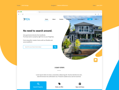 Real Estate UI Web Redesign