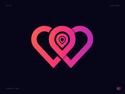 W letter +location + Heart Logo logodesign w letter logo logo awesome logo idea logo inspiration logo mark branding  identity design logo design branding logo designers logo concept logo vector design graphicdesign branding logodesigns logo design logotype awesome logo creative logo