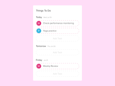 Daily UI - #042 list todo 042 dailyui daily