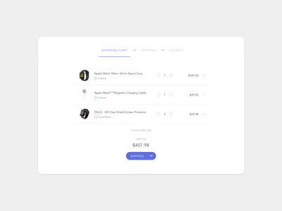Daily UI - #058 cart 058 dailyui daily
