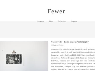 Fewer   Website Design