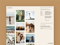 Love, Leon Website Concept