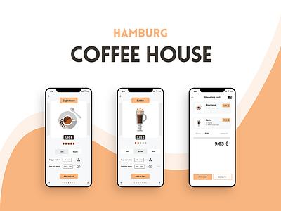 Coffee House Hamburg design ux design ui design adobe photoshop adobe xd coffee coffee house beginner app app design ux ui