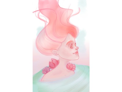 Mermaid character mermaid character illustration illustraion gradient colorful