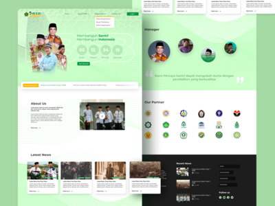 Website PBSB Kementerian Agama lading page product design ux front end website ui indonesia ministry santri scholarship