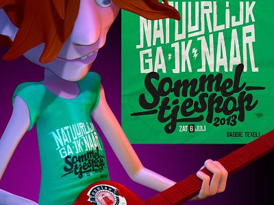 Sommeltjespop 2013 texel posterart