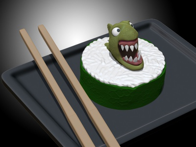 Sushi Piranha zbrush sushi