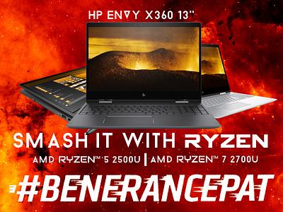 Hp Envy X360 processor ryzen amd