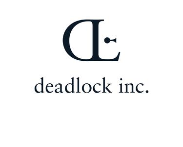 Deadlock Inc identity lettering type flat minimal typography branding illustration design logo