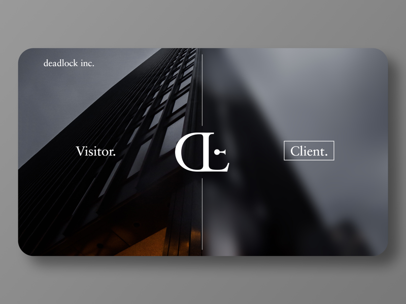Deadlock Landing Page ux ui minimal illustration identity design branding