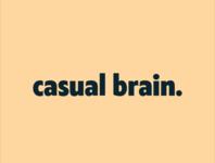 casual brain logo exploration