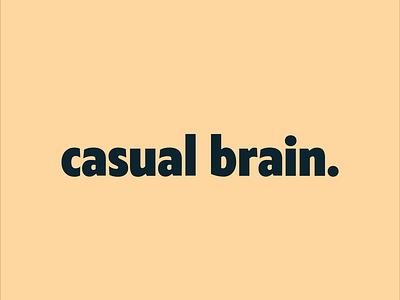 casual brain logo exploration illustrator minimal logo type typography lettering flat identity design branding