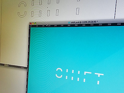 Shift logo design shift wip