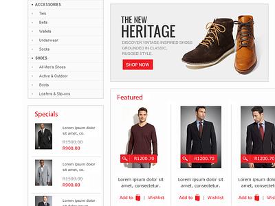 Online Shop online shop red
