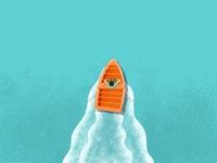 Boat on the River graphic graphicdesign sketching digital procreate sketch river boat summer sea drawing artwork artist art illustrator illustration design
