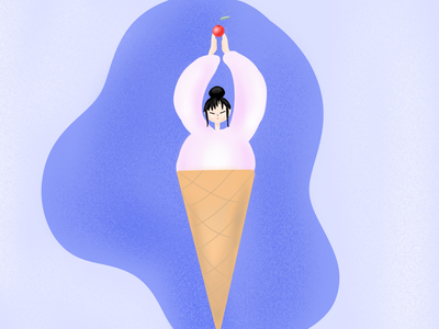 Ice cream 🍦 drawing graphicdesign design artwork artist art sketch food yoga girl icecream illustrator illustration