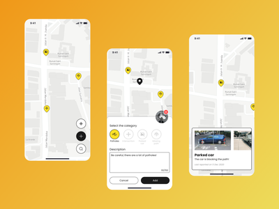 #Exploration - Bikemap mobile visual map ui design