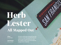 Digest piece on Herb Lester
