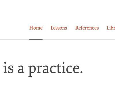 A practice typekit