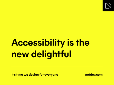 Accessibility is the new delightful type design mier a