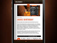Jack Daniels Mobile Site