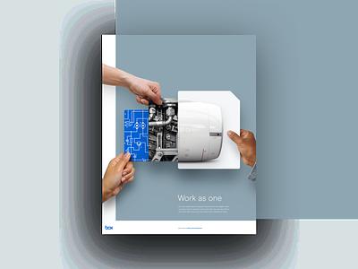 Box - Work as one ad photo illustration advertising illustration