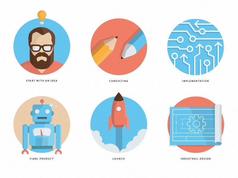 Illustration Set icons illustration