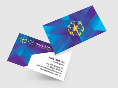 Heptahedron Engineering Services Business Card