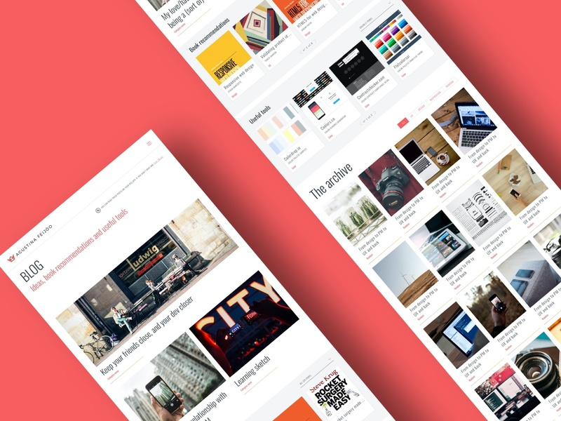 Personal blog personal project ui  ux blog design