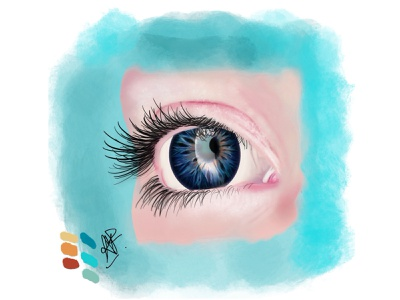 Eye practice realism procreate illustration art digital illustration