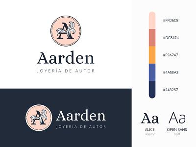 Brand design for online jewelry shop color palette logo design branding