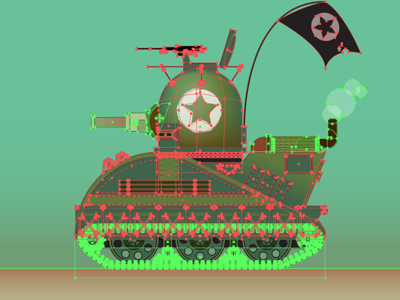 Tank Work In Progress vector toy military tank