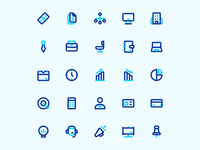 Business and Develoment Icon Set