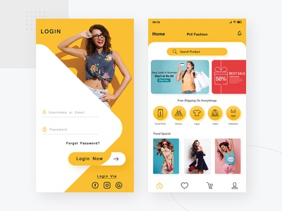 Pril Fashion (Colting App Design Concept)