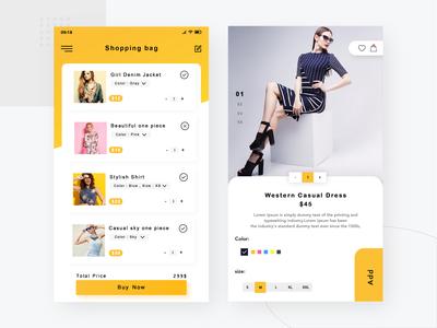 Colthing App Ui Design Concept