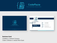 Business Card Of CodeMaze Technologies