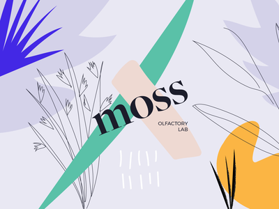 Moss corporate identity vector design prague moss branding concept drawing colors plant typography typeface visual identity illustration branding logo branding branding design