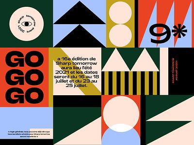 9TH vector typography geometric design future pattern color shape graphic illustration