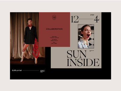 Sun inside editorial photography grotesk typogaphy typeface colortheory fashion editorial design grid layout editorial color design graphic