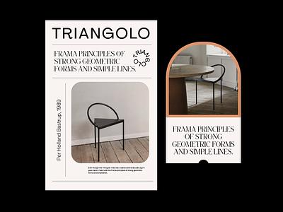 triagolo frama whitespace grid layout prague geometric typography color identity branding design graphic