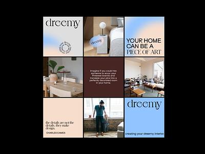Interior Snu art director social media grid layout shape design color branding concept branding and identity grid interior conceptual concept branding branding design
