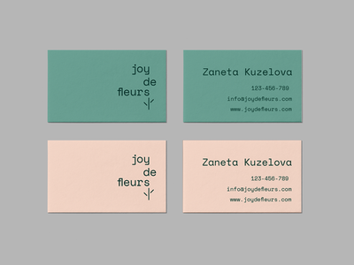 JDF Business card color code business card logo graphic flower identity branding